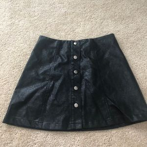 forever 21 button down mini skirt